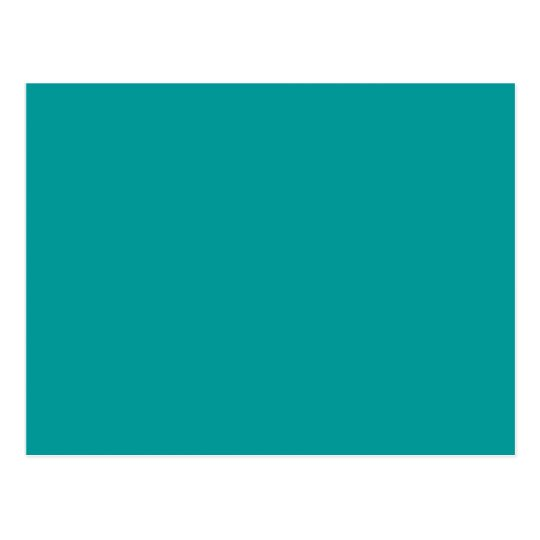 009999 Solid Colour Turquoise Background Template Postcard