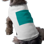 009999 Solid Colour Turquoise Background Template Sleeveless Dog Shirt