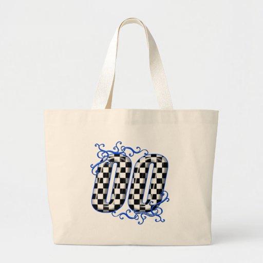 00 auto racing number bag