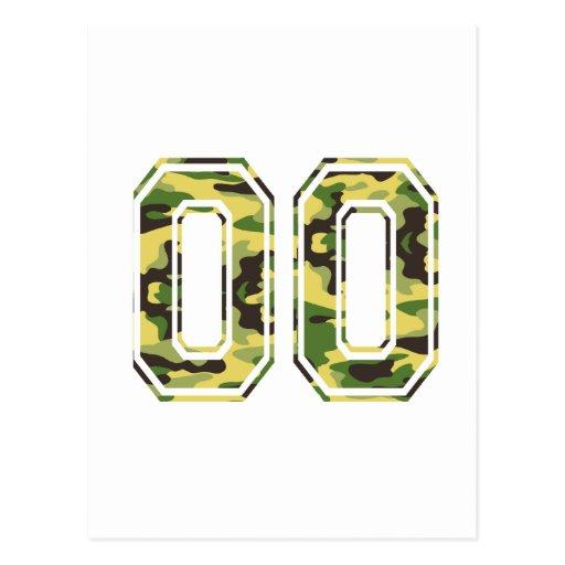 #00 Green & Yellow Camo Post Card