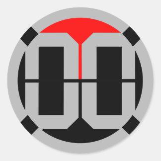 00 LvL 1.5 Inch Sticker