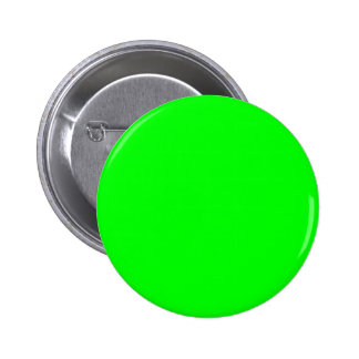 00FF00 Lime Green 6 Cm Round Badge