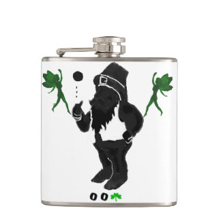 00Shamrock - Leprechaun Vinyl Wrapped Flask