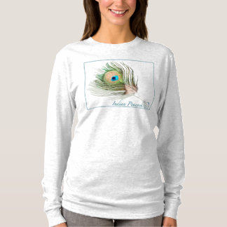 0101 Peacock Hanes Nano Long Sleeve T-Shirt