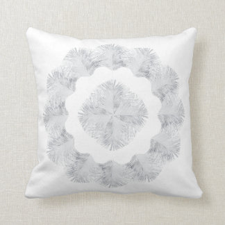0101 White Peacock 4, 20x20 Throw Pillow