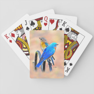 010 Bluebird Love Playing Cards