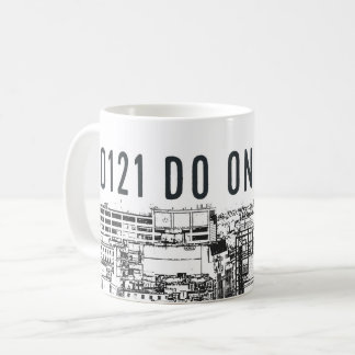 0121 DO ONE and Birmingham cityscape on mug