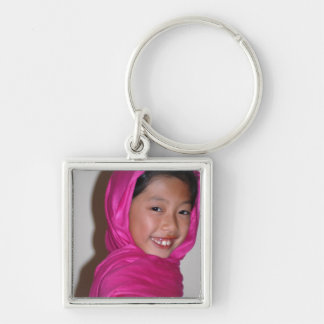 016 Silver-Colored SQUARE KEY RING