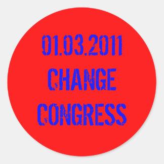 01.03.2011 CHANGE CONGRESS ROUND STICKER