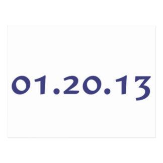 01.20.13 - Obama's last day as President Postcard