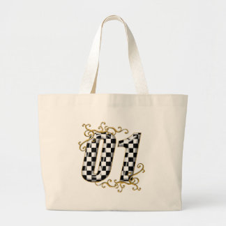 01 auto racing number canvas bags