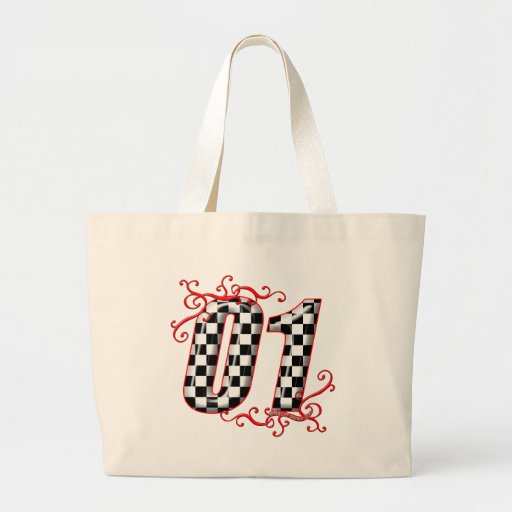01 auto racing number bags