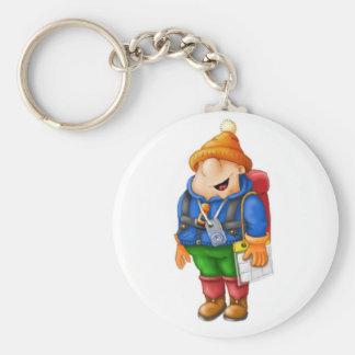 01 Hiker Basic Round Button Key Ring