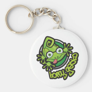 01 Horny Gecko Logo colour Basic Round Button Key Ring