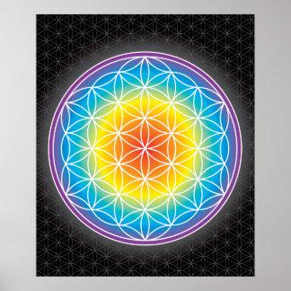 01 LUMINENCE - Flower of Life Poster