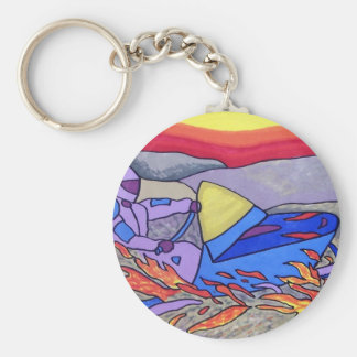 01 Snowmobile color by Piliero Basic Round Button Key Ring