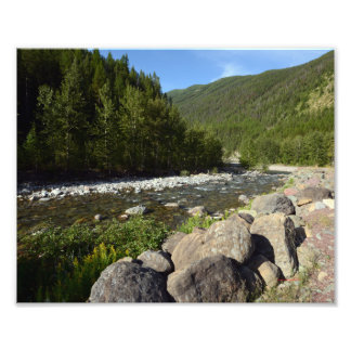 0207 8/12 Mountain river in Glacier Park. Photograph