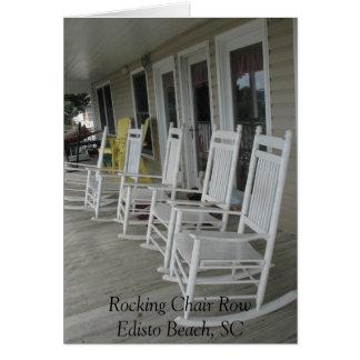 022, Rocking Chair RowEdisto Beach, SC Greeting Card