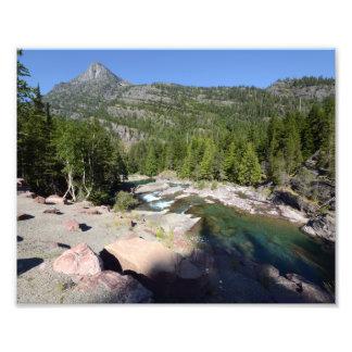 0287 8/12 Mc Donald Falls in Glacier Park. Photo Art