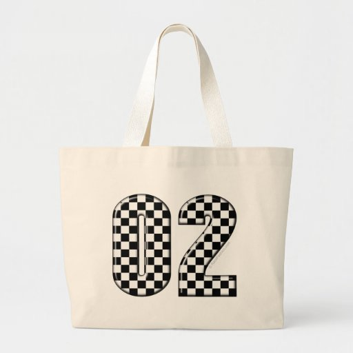 02 checkered auto racing number bag