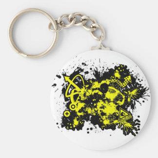 02 Design 1 Basic Round Button Key Ring