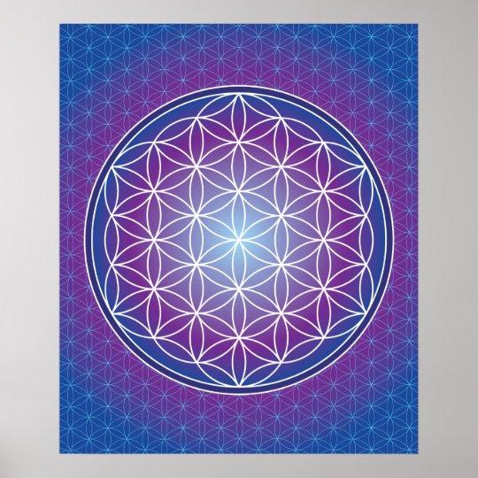 02 TRANSCENDENCE - Flower of Life Poster