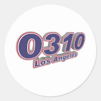 0310 Los Angeles Classic Round Sticker
