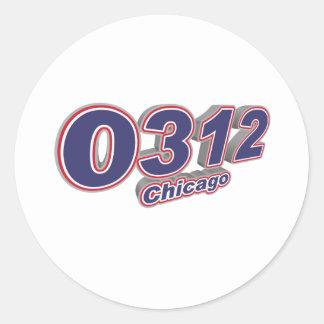 0312 Chicago Classic Round Sticker