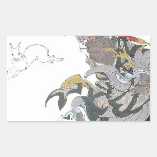 031 - Jade Rabbit (Gyokuto).jpg Rectangular Sticker