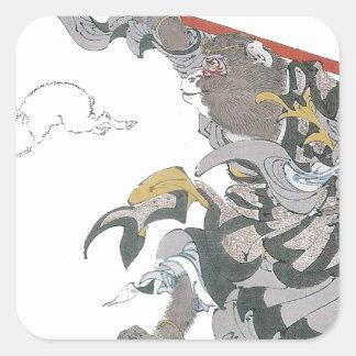 031 - Jade Rabbit (Gyokuto).jpg Square Sticker