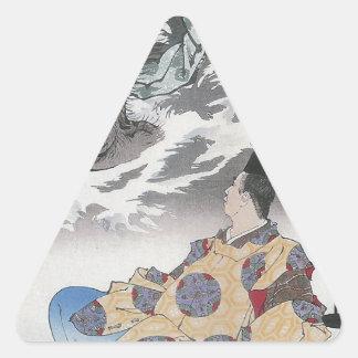 033 - Tsuenobu and the Demon.jpg Triangle Sticker