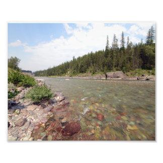 0376 8/12 Mc Donald falls in Glacier Park Photo Art