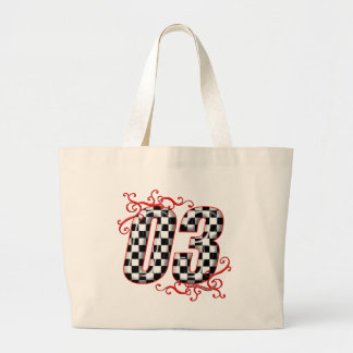 03 auto racing number tote bag