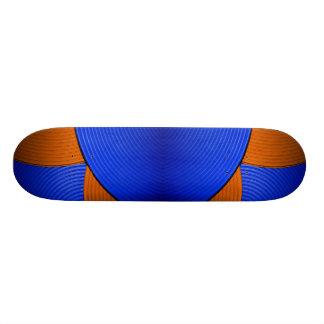 03 Blue & Orange Skateboard Skate Deck