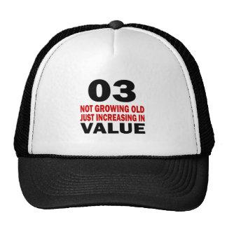 03 Just Growing Old Birthday Designs Cap