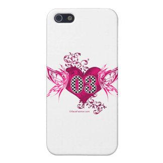 03 race car number butterflies iPhone 5 case