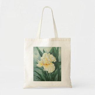 0434 Cream Iris Tote Bag