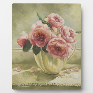 0437 English Roses in Pitcher Plaque