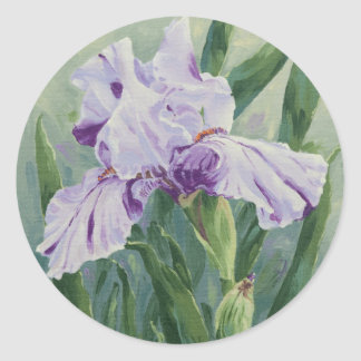 0440 Purple Iris Classic Round Sticker