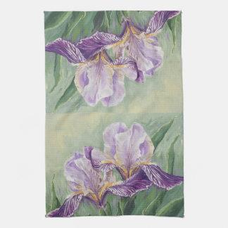 0455 Purple Irises Tea Towel