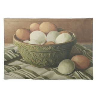 0497 Eggs in Antique Green Bowl Placemat