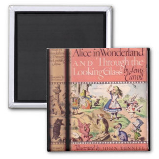 04 - Alice Book Cover Square Magnet