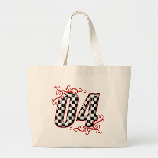 04 auto racing number tote bag