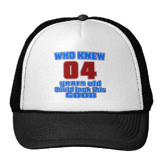 04 birthday designs cap