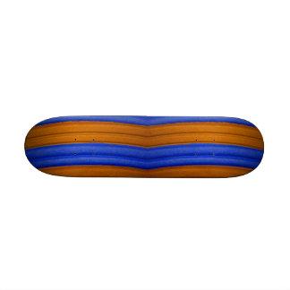 04 Blue & Orange Rainbow Skateboard Skateboard