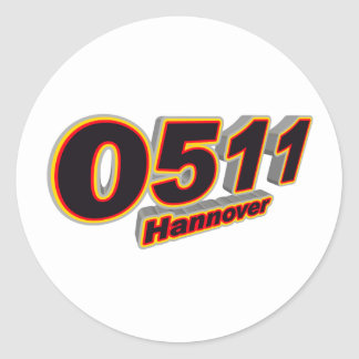 0511 Hannover Round Stickers