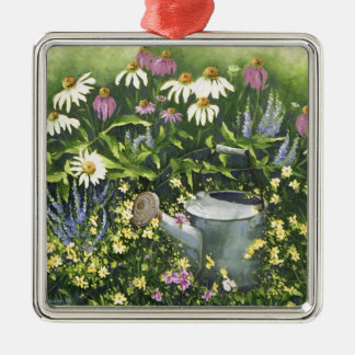 0530 Cone Flowers & Watering Can Christmas Ornament