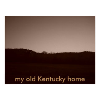 057, my old Kentucky home Poster