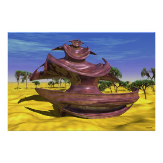 #05-03 Scarabaeus Wood: Mahagony Wood Sculpture Po Poster