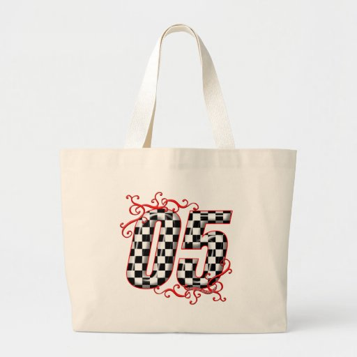05 auto racing number tote bags
